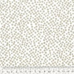 Tecido Tricoline Bolinhas Bubble - Fundo Off White