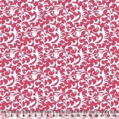 Tecido Tricoline Coleção Composê Ideal Rosa Pink - Arabesco