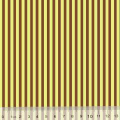 Tecido Tricoline Est. Listras - Marrom com Amarelo