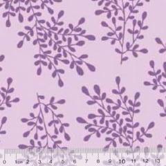 Tecido Tricoline Floral Floramos - Lilás Tons
