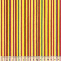 Tecido Tricoline FM Listras Lu Gastal - Super Color Amarelo