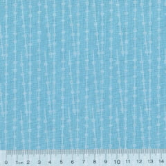 Tecido Tricoline Formas Blue Ball