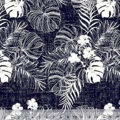 Tecido Tricoline Havaí Mahau - Jeans - 100% Algodão - Largura 1,50m