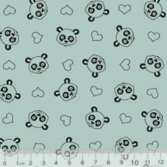 Tecido Tricoline Ibira Panda - Azulado - 100% Algodão - Largura 1,50m