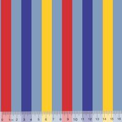 Tecido Tricoline Listras Tricolores