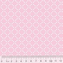 Tecido Tricoline Pan Mini Gradinhas - Rosa Claro - 100% Algodão - Largura 1,50m