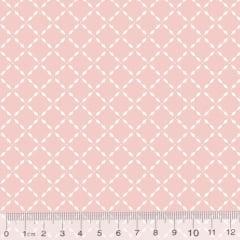 Tecido Tricoline Pan Mini Gradinhas - Rosa Nude - 100% Algodão - Largura 1,50m