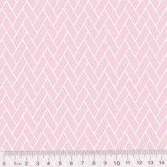 Tecido Tricoline Mini Tijolinhos - Rosa Claro