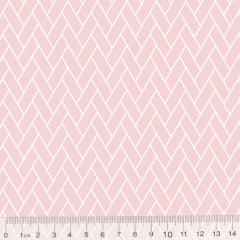Tecido Tricoline Pan Mini Tijolinhos - Rosa Nude - 100% Algodão - Largura 1,50m