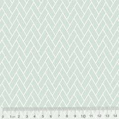 Tecido Tricoline Pan Mini Tijolinhos - Verde Claro - 100% Algodão - Largura 1,50m