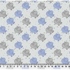 Tecido Tricoline Pequeno Hipo - Azul - 100% Algodão - Largura 1,50m