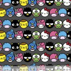 Tecido Tricoline Personagens F. Maluhy - Hello Kitty Rostinhos Coloridos - 100% Algodão - Largura 1,50m