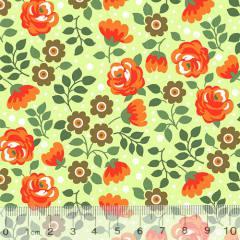 Tricoline Alg. Floral Her - Amarillo