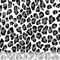 Tecido Tricoline Alg. Onça - Cinza - 100% Algodão - Largura 1,45m