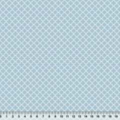 Tricoline Azulejos Mini - Azul Claro