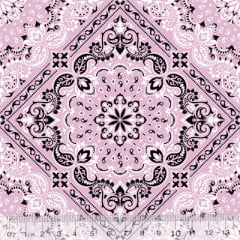 Tricoline Bandana Style - Rosa Claro