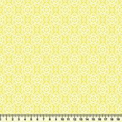 Tecido Tricoline Coleção Composê Ideal Amarelo - Flores