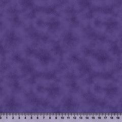 Tecido Tricoline Coleção Composê Ideal Roxo - Manchado/Poeirinha - 100% Algodão - Largura 1,50m