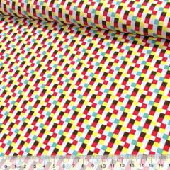 Tecido Tricoline Colors Points