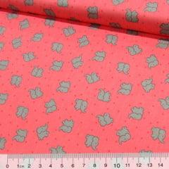 Tecido Tricoline Confete Elefantes - Rosê