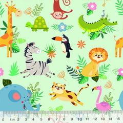 Tricoline Digital Safari Colorido