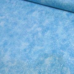 Tricoline Floral - Liberty Manchado - Azul Claro
