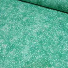 Tricoline Floral - Liberty Manchado - Verde Ocean