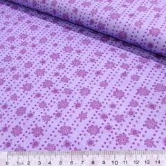 Tecido Tricoline Floral Lisca - Lilás