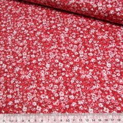 Tricoline Floral Mini Ink - Vermelho