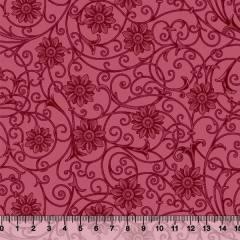 Tricoline Floral Soul - Vermelho