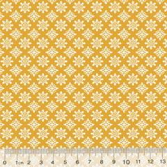 Tecido Tricoline Garden Unity - Arábico - Amarelo Mostarda (Largura: 1,50 m)