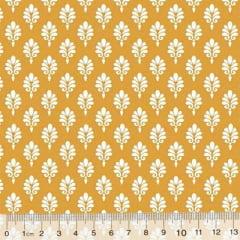 Tecido Tricoline Garden Unity - Brasão - Amarelo Mostarda (Largura: 1,50 m)