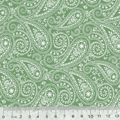Tricoline Garden Unity - Kashmir - Verde (Largura: 1,50 m)