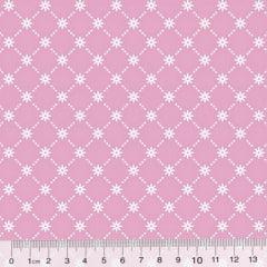 Tricoline Garden Unity - Mini Flor - Rosa Claro (Largura: 1,50 m)