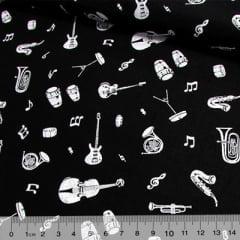 Tricoline Instrumentos Musicais - Fundo Preto