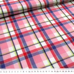 Tecido Tricoline Light - Xadrez Madras (REF 005) - 100% Algodão - Largura 1,50m