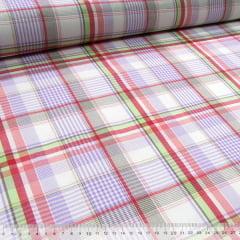 Tecido Tricoline Light - Xadrez Madras (REF 022) - 100% Algodão - Largura 1,50m