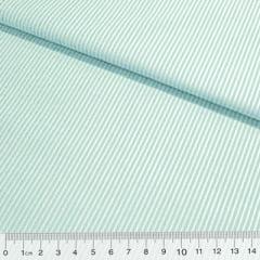 Tecido Tricoline Fio-Tinto Listras P - Acqua - 100% Algodão - Largura 1,50m