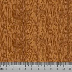 Tricoline Madeira Textura - Marrom