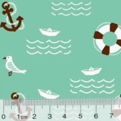 Tecido Tricoline Marítimo Seagull - Verde