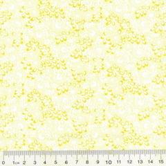 Tricoline Mista Floral Martinica - Amarelo