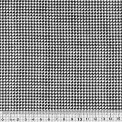 Tecido Tricoline Mista Mini Pied Poule - Preto - 90% Algodão 10% Poliéster - Largura 1,50m