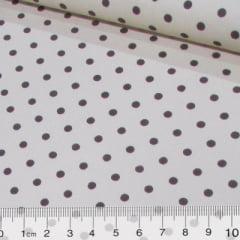 Tecido Tricoline Mista Poá Vintage - Caqui - 90% Algodão 10% Poliéster - Largura 1,50m