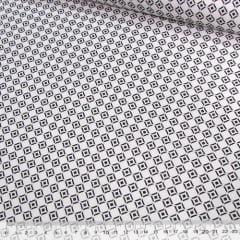Tricoline Mista Pop - Formas Circulares - Preto e Branco