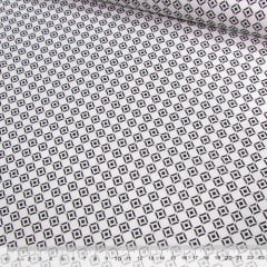 Tecido Tricoline Mista Pop - Formas Circulares - Preto e Branco