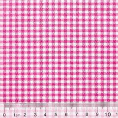 Tecido Tricoline Mista Pop Textoleen Xadrez Rosa Pink