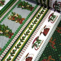 Tricoline Natal Barras - Enfeites - Verde