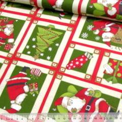 Tecido Tricoline Natal Est. Querido Papai Noel - Molduras