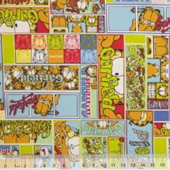 Tecido Tricoline Personagens F. Maluhy - Garfield Mosaico Colorido