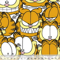 Tecido Tricoline Personagens F. Maluhy - Garfield Selfies